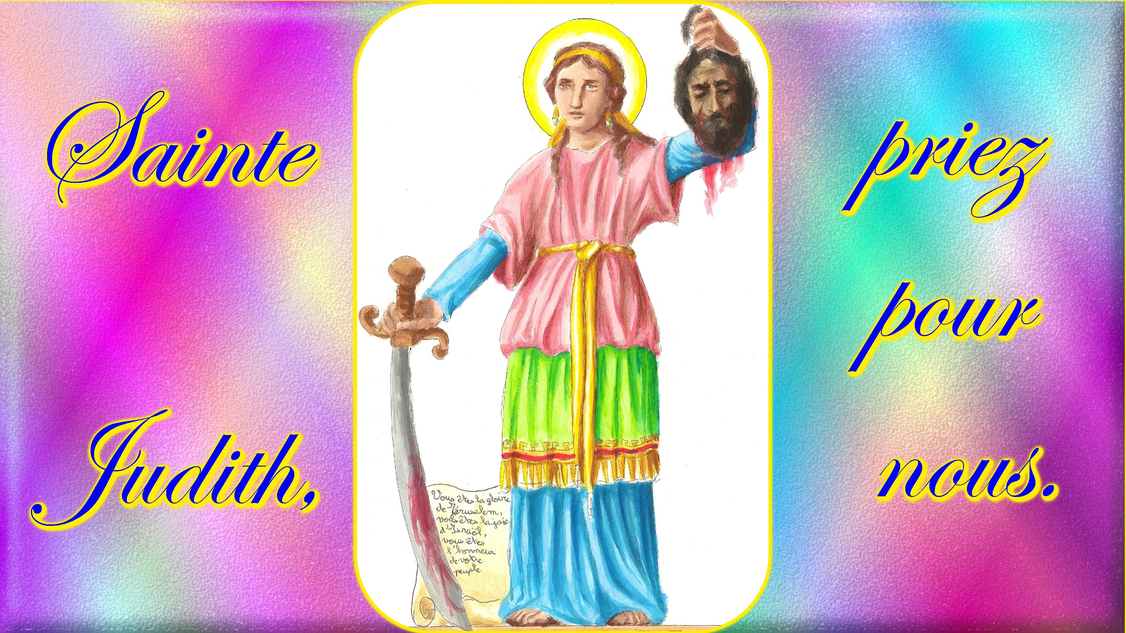 CALENDRIER CATHOLIQUE 2019 (Cantiques, Prières & Images) - Page 10 Ste-judith-569b4f6