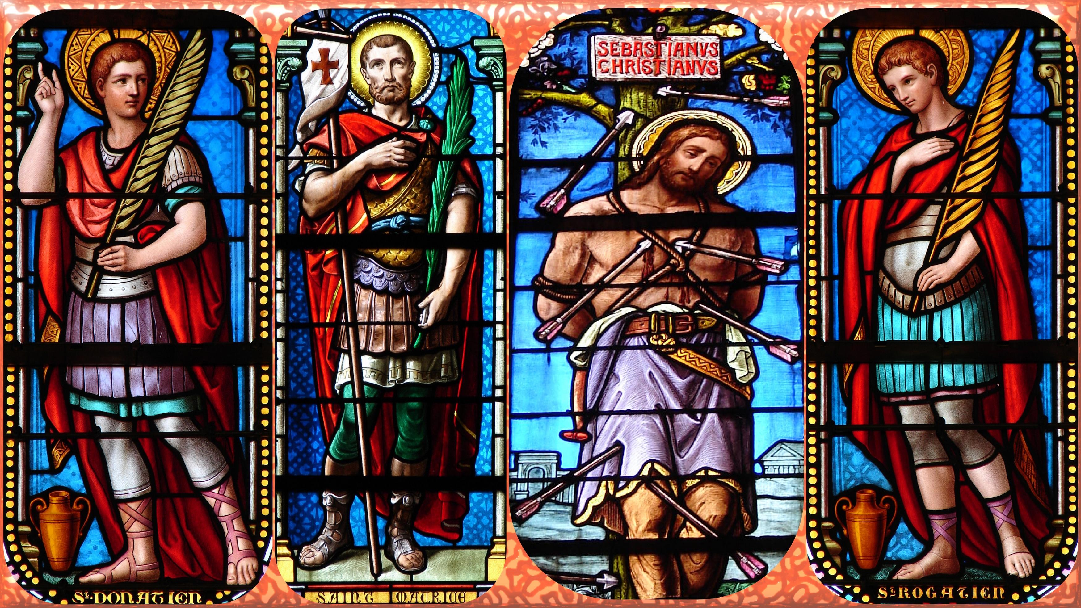 CALENDRIER CATHOLIQUE 2020 (Cantiques, Prières & Images) - Page 2 Les-sts-donatien-...-bastien-56f814b