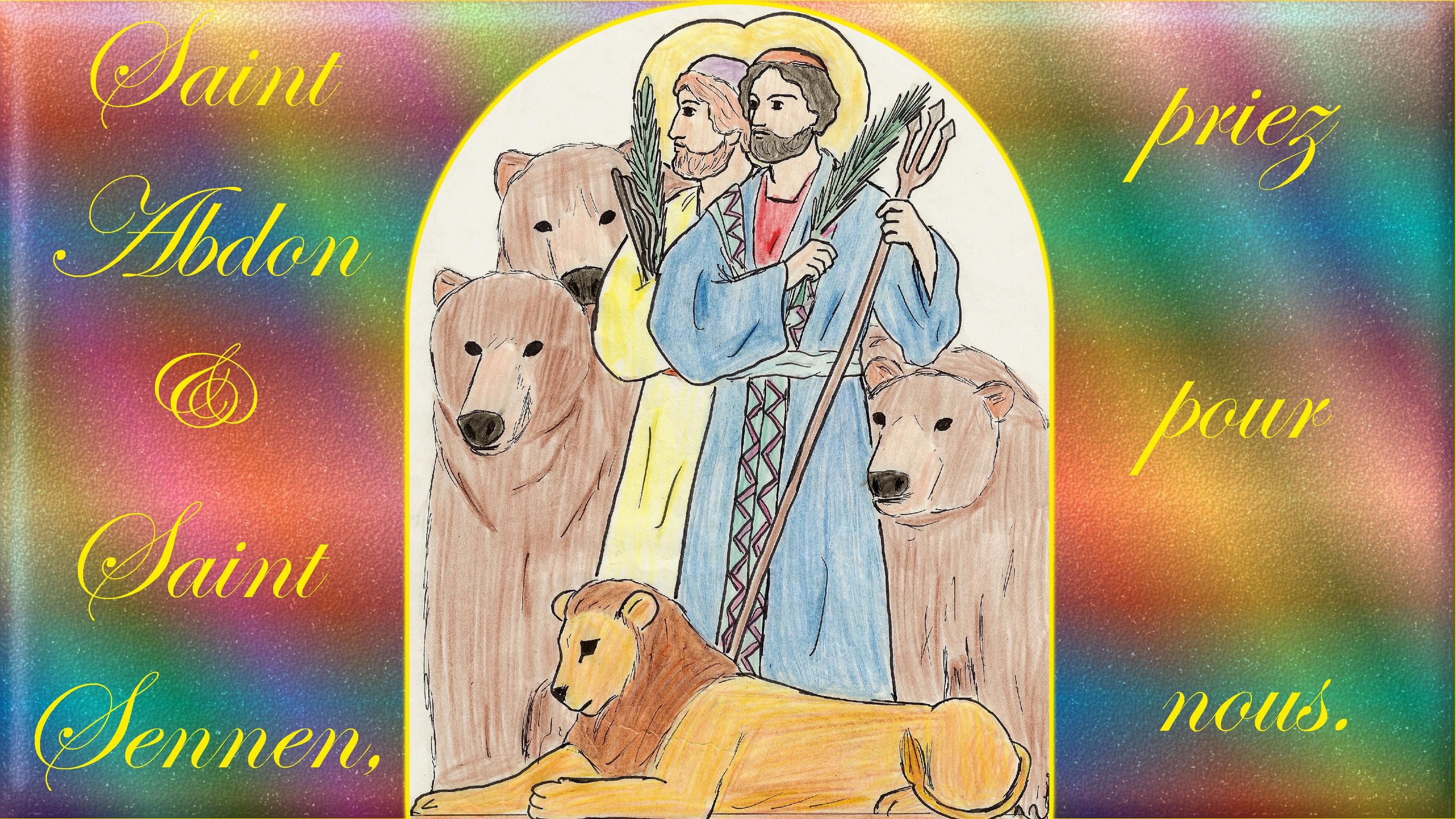 CALENDRIER CATHOLIQUE 2020 (Cantiques, Prières & Images) - Page 22 St-abdon-st-sennen-5798360