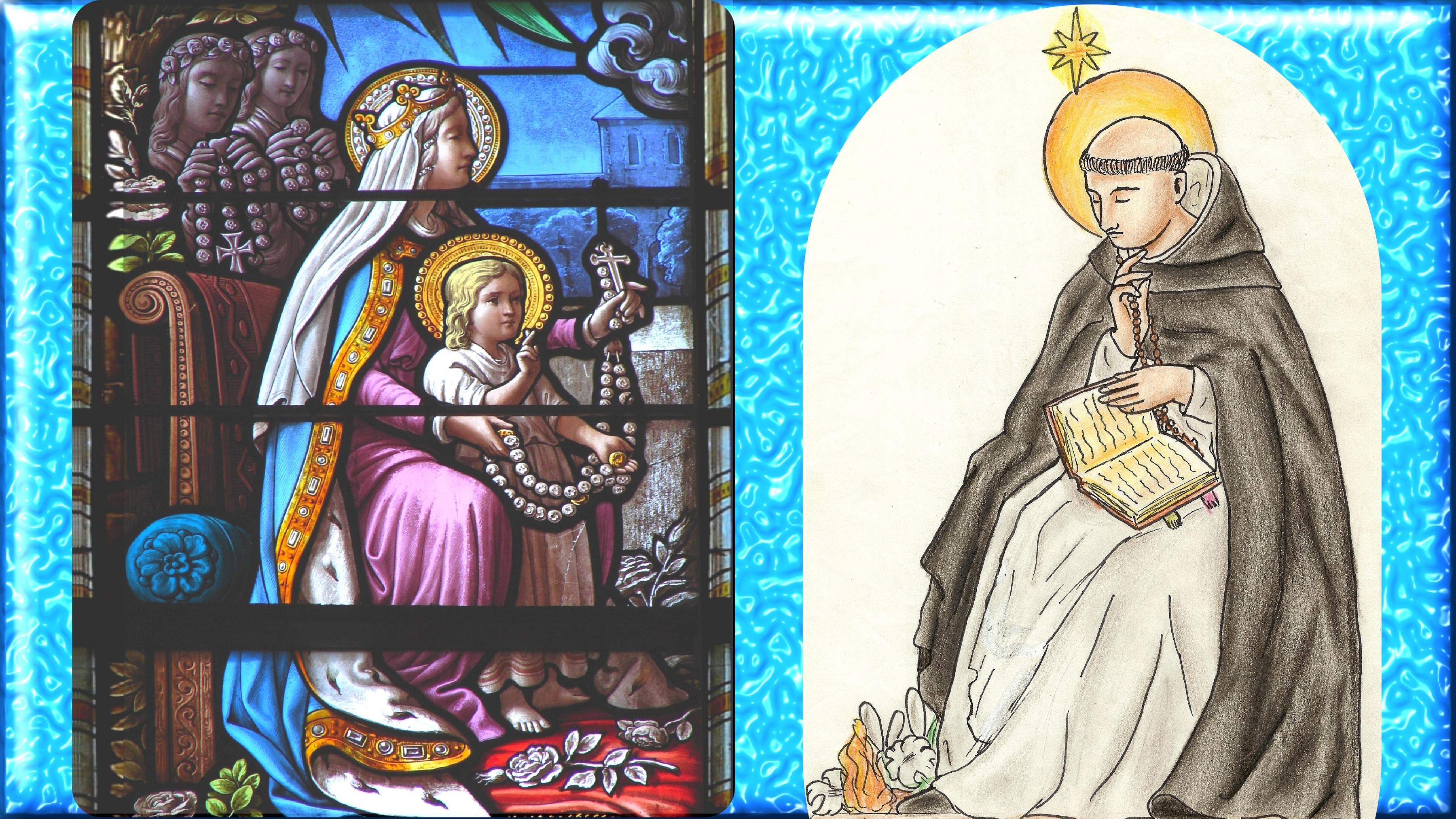 CALENDRIER CATHOLIQUE 2020 (Cantiques, Prières & Images) - Page 22 Notre-dame-du-ros...ominique-579b2b4