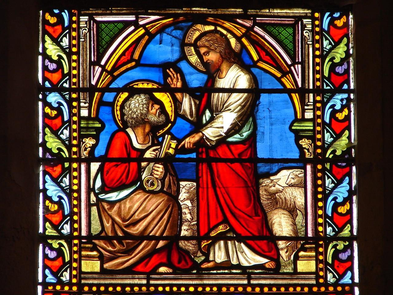 CALENDRIER CATHOLIQUE 2020 (Cantiques, Prières & Images) - Page 6 J-sus-donnant-les...t-pierre-5712e98
